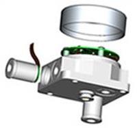 Sensor común fabricado con una alta precisión en la fábrica GE Druck en Leicestershire.